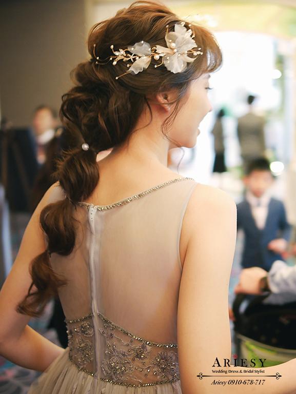編髮造型,新秘推薦,新娘髮型,新娘造型,維多麗亞酒店,韓風新娘,愛瑞思,ARIESY