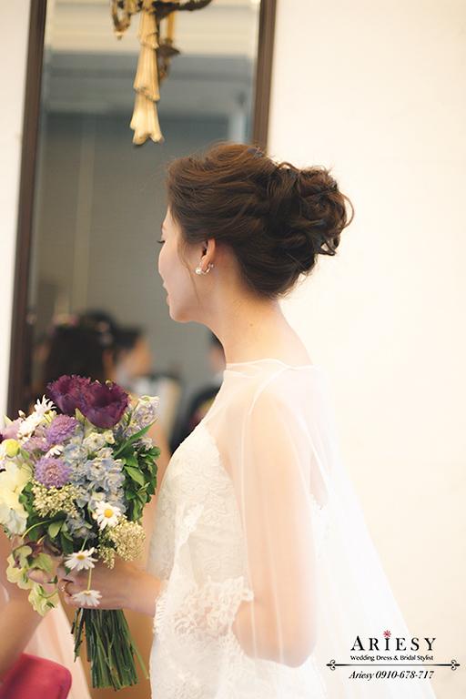 歐美新秘,新娘髮型,新娘造型,維多麗亞酒店,韓風新娘,,短髮新娘愛瑞思,ARIESY
