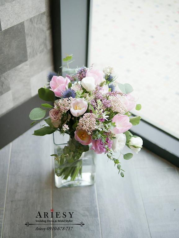 Bouquet of flowers,ariesy捧花,歐美風美式捧花,裸粉色紅色歐美風捧花,甜美粉紫捧花,Bridal bouquet