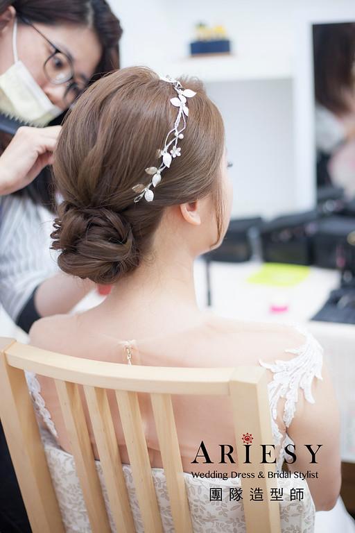 桃園新祕,新娘秘書,新娘造型,編髮新祕,白紗造型,自然清透妝感,新娘髮型,編髮造型,盤髮造型,推薦新祕