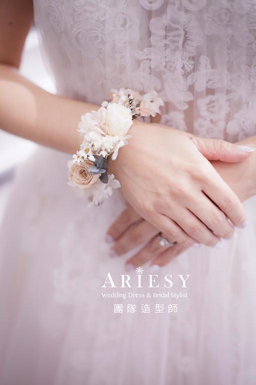 新娘造型,客製化,新娘手腕花,手作花藝,新娘,浪漫甜美,新娘秘書