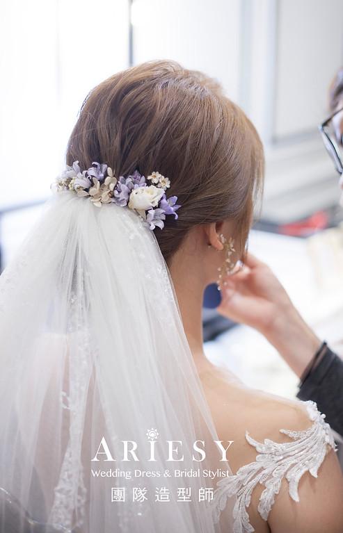 桃園新祕,新娘秘書,新娘造型,編髮新祕,白紗造型,自然清透妝感,新娘髮型,編髮造型,鮮花新祕,推薦新祕