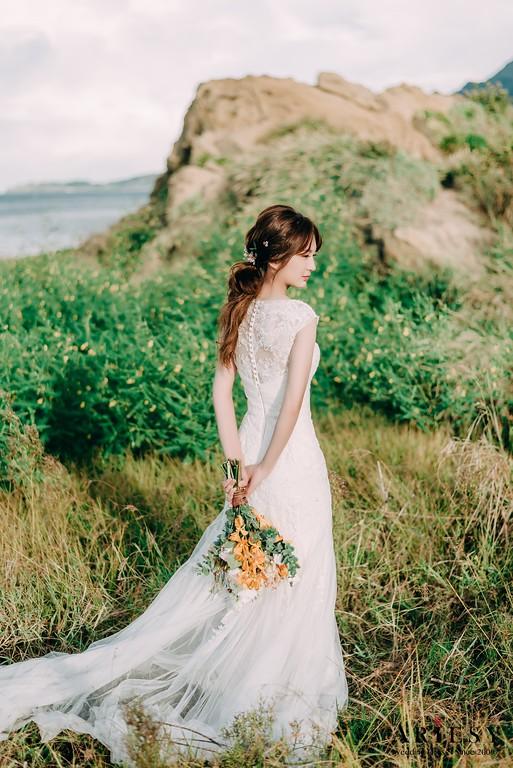 ARIESY手工婚紗,婚攝大嘴,愛瑞思新娘秘書團隊,新莊攝影工作室,浪漫蕾絲魚尾白紗,淡藍漸層禮服