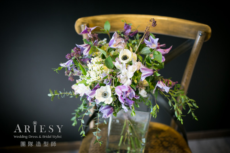 台北新秘,新娘捧花,新娘秘書,新秘花藝,歐美風捧花