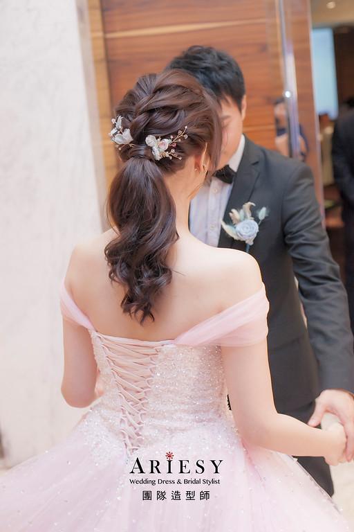 新娘髮型,編髮造型,新祕,新娘秘書,新娘造型,敬酒造型,馬尾造型