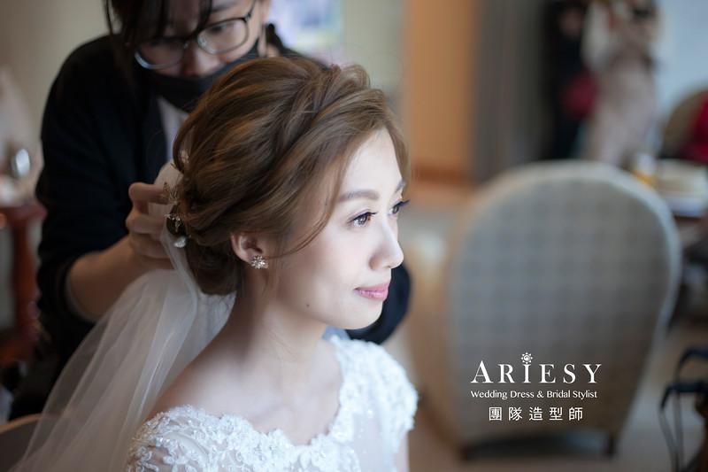 白紗造型,編髮造型,進場新娘髮型,新祕,新娘造型,新娘秘書,盤髮髮型