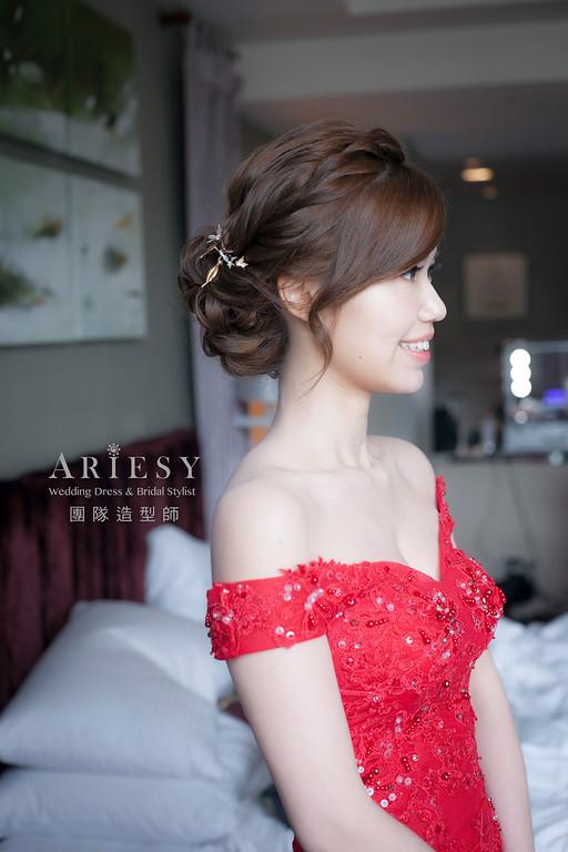 文定造型,編髮造型,新娘祕書,新娘造型,新祕,清透妝感