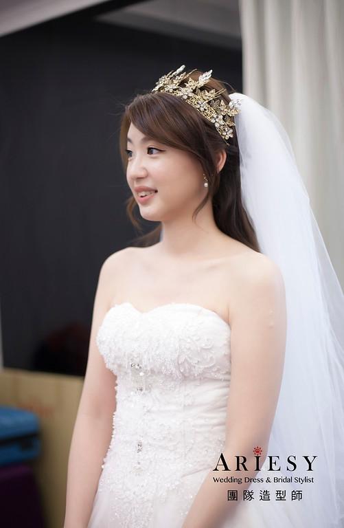 白紗造型,編髮造型,進場新娘髮型,新娘祕書,新娘造型,新祕,清透妝感