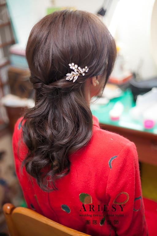 文定造型,編髮造型,台北新祕,新娘秘書,新娘造型,自然清透妝感,新娘髮型