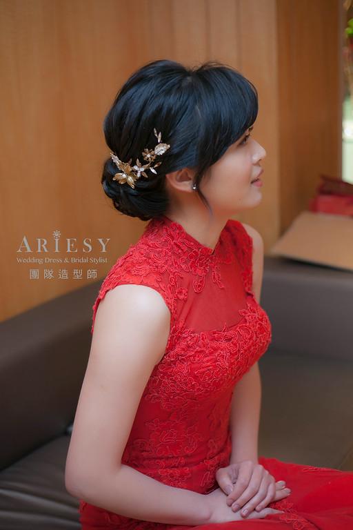 文定造型,編髮造型,新娘髮型,新祕,黑髮新娘造型,清透妝感,新娘秘書