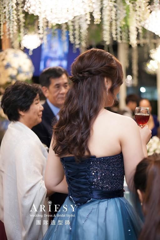 推薦新祕,蓬鬆編髮造型,新娘祕書,新娘造型,新祕,婚宴造型,清透妝感