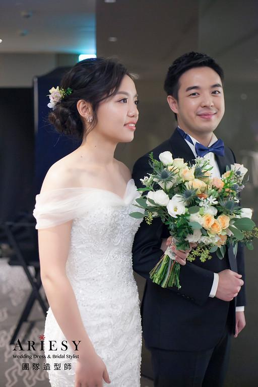 白紗造型,編髮造型,新娘髮型,新祕,放髮造型,鮮花新娘造型,鮮花新祕,黑髮造型