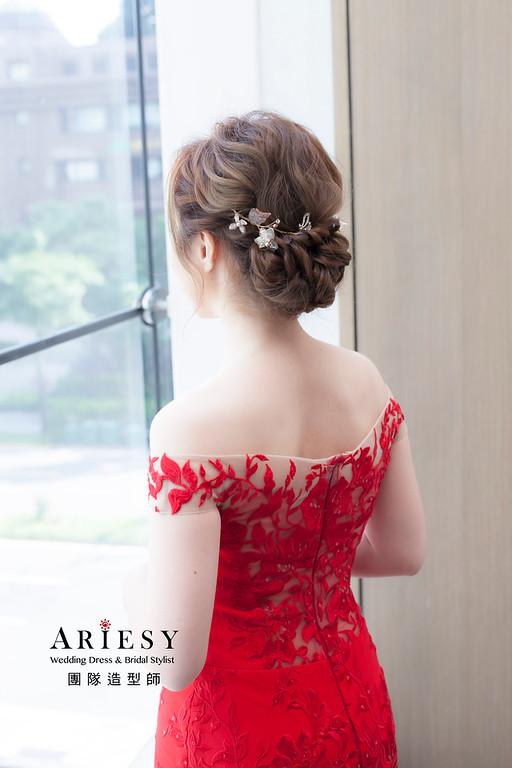 文定造型,編髮髮型,新娘祕書,新祕,新娘造型,艾美婚宴造型