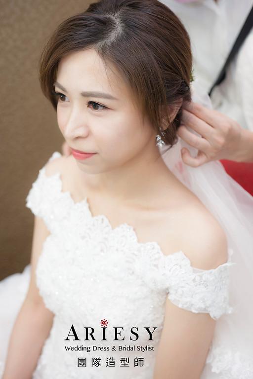 白紗造型,編髮造型,進場新娘髮型,新祕,新娘造型,迎娶造型