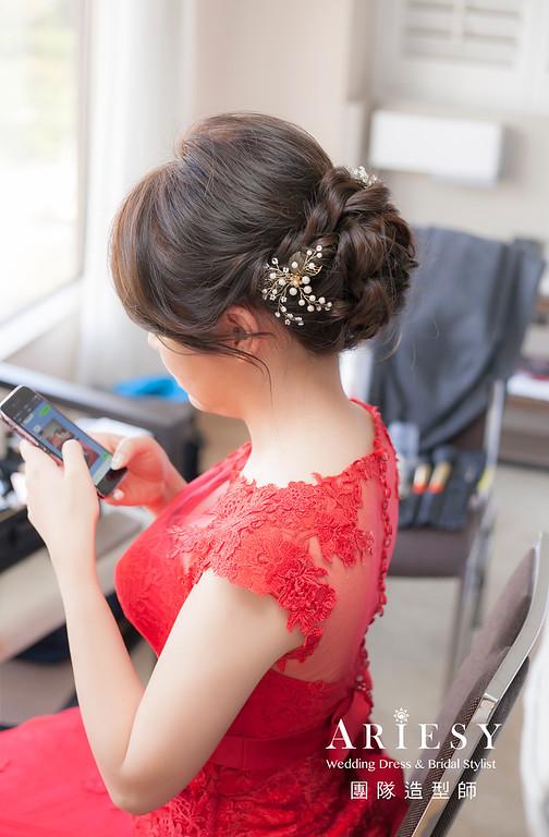 文定造型,編髮造型,新娘祕書,新娘造型,新祕,新祕推薦,清透妝感