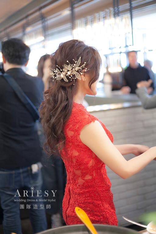 敬酒造型,編髮造型,新娘祕書,新娘造型,新祕,清透妝感