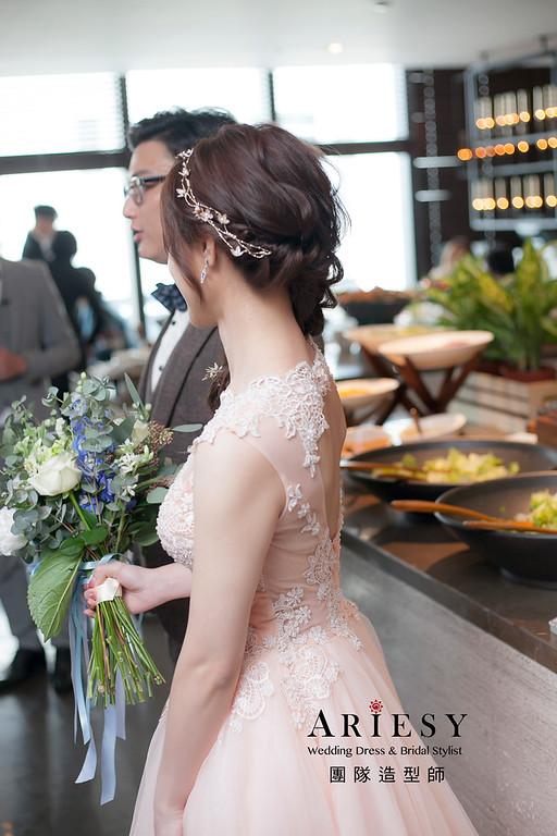 送客造型,編髮造型,新娘造型,新娘祕書,新祕,清透妝感