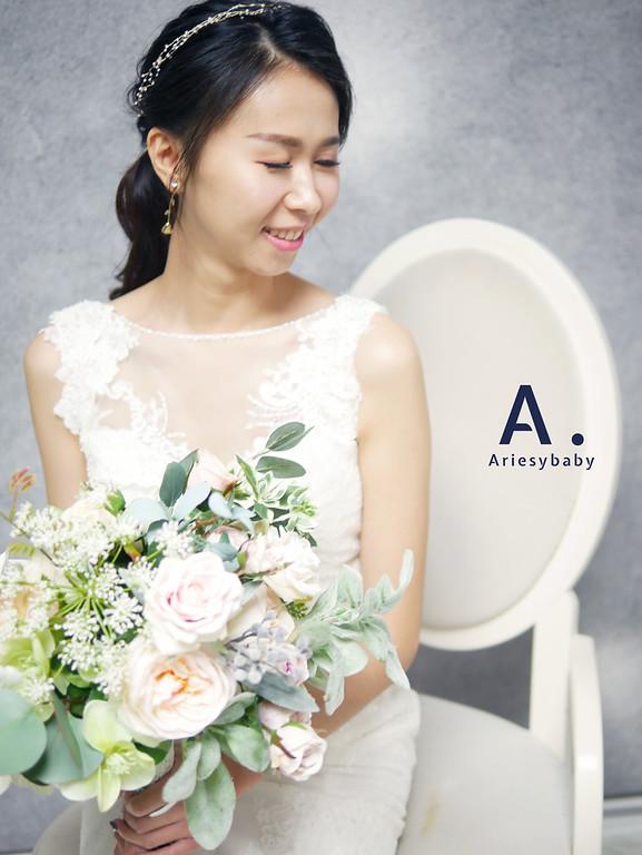 Ariesybaby造型團隊,新祕,新娘秘書,新娘造型,ARIESY愛瑞思品牌訂製手工婚紗,清透妝感