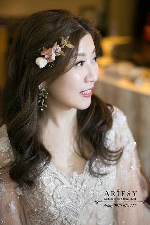仙女新娘造型,鮮花新娘造型,新娘秘書,新秘,台北新秘推薦,愛瑞思,ARIESY