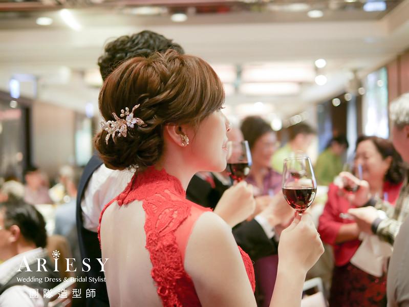 敬酒造型,新秘推薦,旗袍造型,短髮新娘,編髮造型