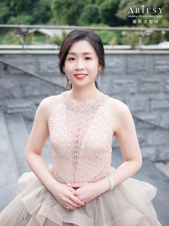 新娘秘書、秀禾服新娘造型、低馬尾造型、自然輕透妝感、新秘