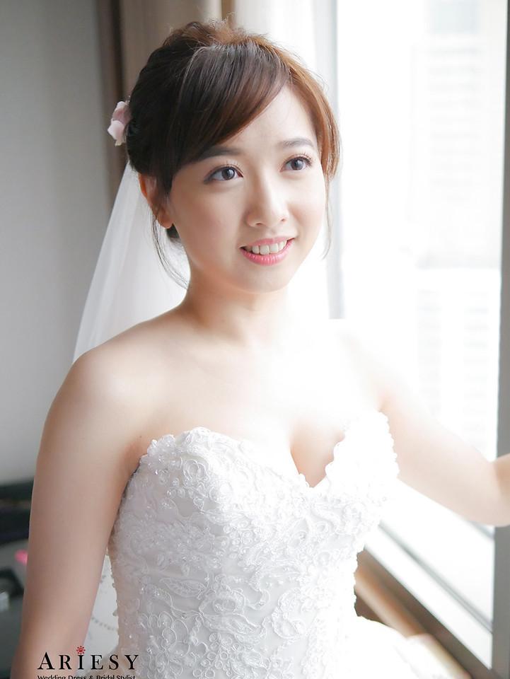 新娘秘書,自然新娘妝感,白紗造型,鮮花迎娶造型,新秘作品,日系新娘