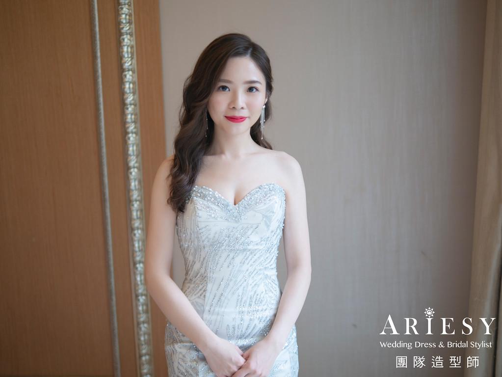 花藝新娘造型,時尚新娘造型,新莊新娘秘書,自然輕透妝感,新娘秘書