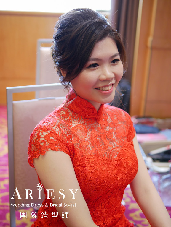 新秘編髮,台北新秘推薦,自然妝感,旗袍造型,文定造型