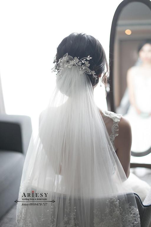 黑髮白紗造型,台北新秘,新娘秘書,ARIESY,愛瑞思,新店白金花園婚禮