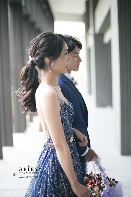 第九大道晚禮服,黑髮新娘秘書,台北新秘,新秘手工飾品,ARIESY,愛瑞思