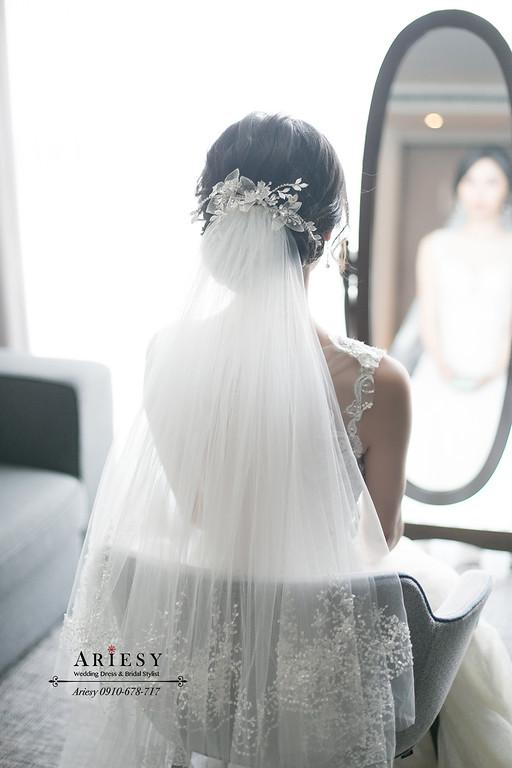 白紗造型,台北新秘,新娘秘書,ARIESY,愛瑞思,新店白金花園婚禮