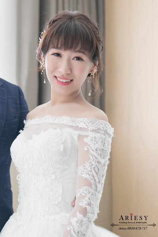 新娘短瀏海,新秘,新娘秘書,迎娶造型,格萊天漾,愛瑞思