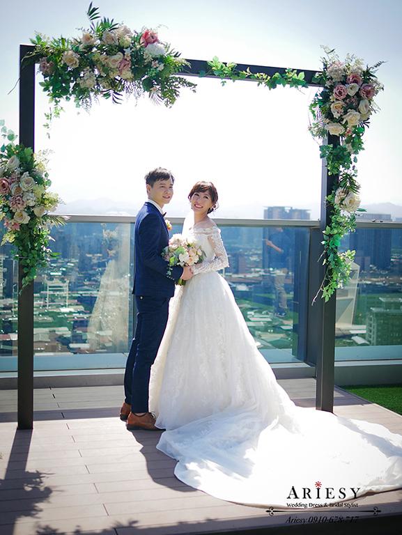 單眼皮新娘,新娘短瀏海,新秘,新娘秘書,迎娶造型,格萊天漾,愛瑞思