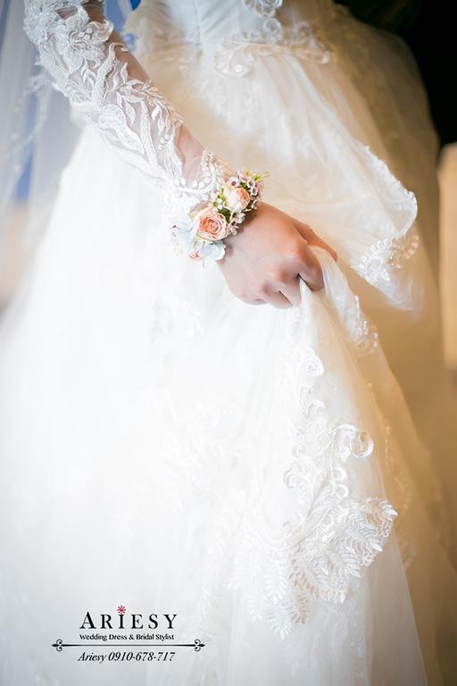 白紗髮型,新秘,新娘秘書,鮮花編髮造型,格萊天漾,ariesy