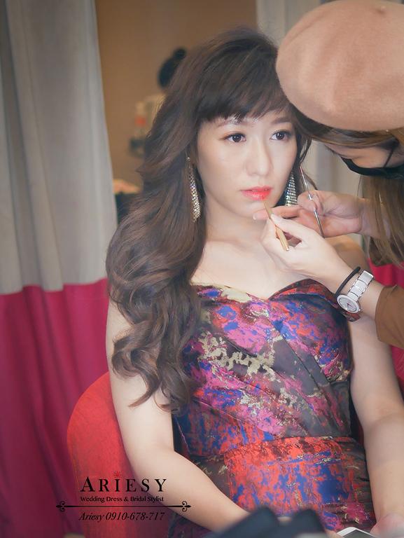 花布禮服造型,格萊天漾,新娘秘書,新秘,送客造型,新娘造型