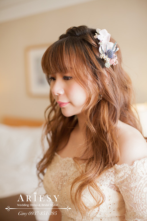 台北新秘,編髮造型,鮮花造型,新娘秘書,旗袍造型