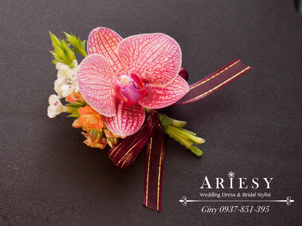 台北新秘,空氣感編髮造型,鮮花新娘造型,新娘秘書,黑髮造型