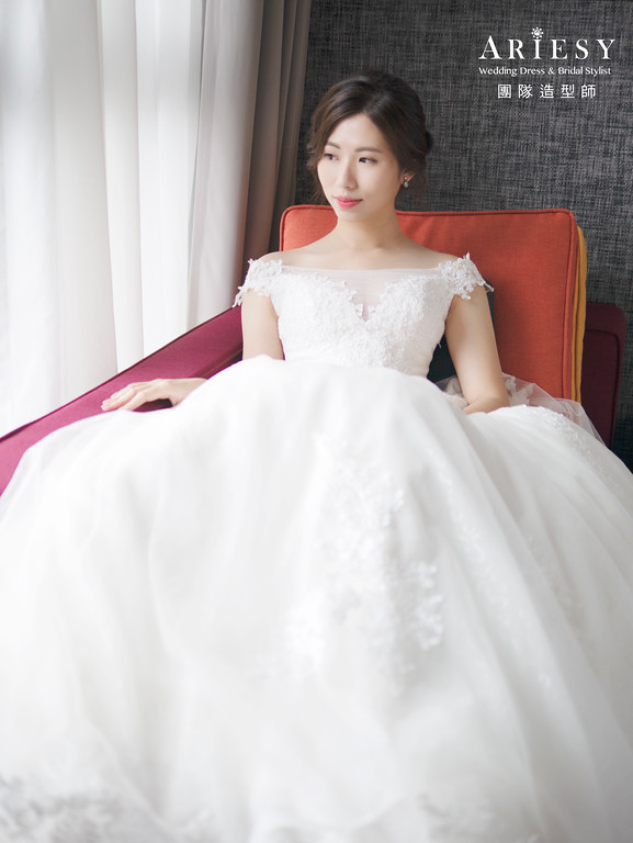 新娘秘書、皇冠新娘造型、自然妝感、新秘、氣質典雅