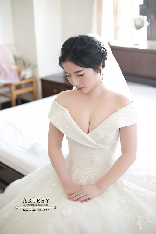 新娘秘書,愛瑞思,台北新秘,新秘推薦,單眼皮新娘,黑髮新娘造型