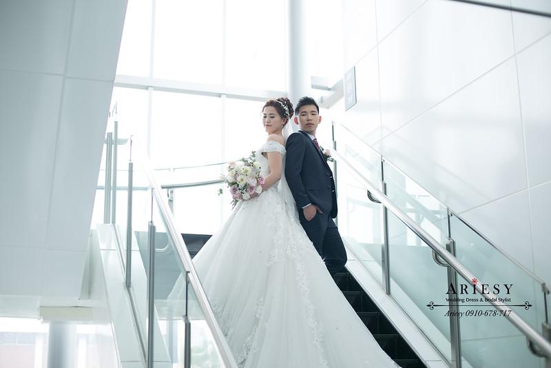 單眼皮新娘,蓬鬆線條新娘髮型,新秘,新娘秘書,愛瑞思,ARIESY婚紗