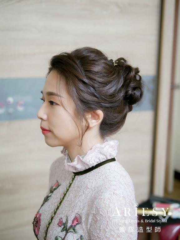 文定髮型,新娘編髮造型,單眼皮新娘妝,台北新秘,新娘髮型