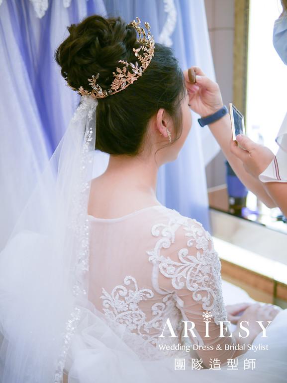 進場髮型,新娘皇冠造型,台北新秘推薦,黑髮新娘,新娘秘書
