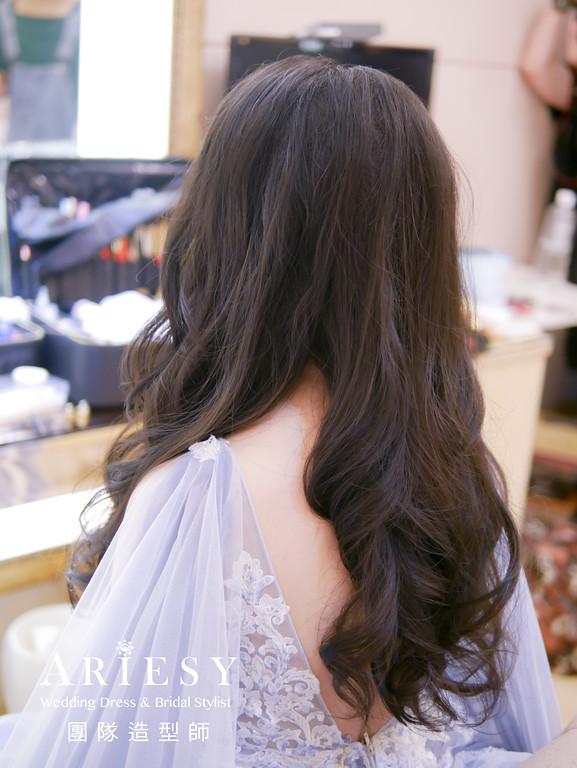 敬酒髮型,新秘,新娘髮型,黑髮新娘,花耳環