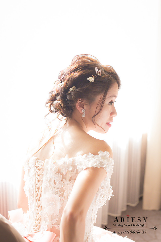 送客造型,蓬鬆髮型,新娘秘書,台北新秘,新秘作品