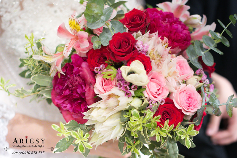 白紗造型,台北新秘推薦,新娘秘書作品,新娘捧花,台北新秘
