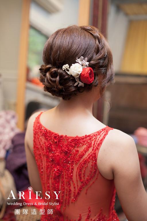文定新娘造型,新娘妝,新秘花藝,新娘髮型,新娘編髮
