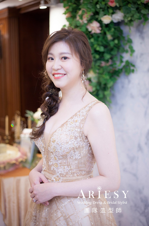 宜蘭新祕,新娘秘書,新娘造型,編髮新祕,送客造型,自然清透妝感,新娘髮型,編髮造型