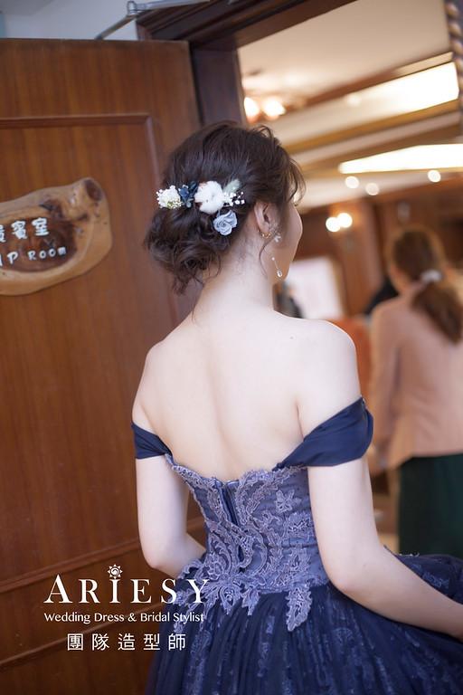 宜蘭新祕,新娘秘書,新娘造型,編髮新祕,敬酒造型,自然清透妝感,新娘髮型,花藝新娘飾品