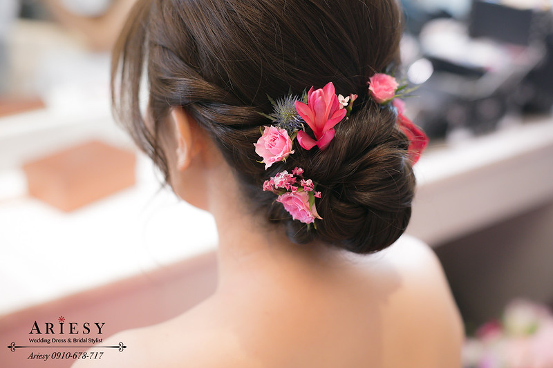 鮮花編髮,文定造型,新秘推薦,新娘秘書,新娘髮型