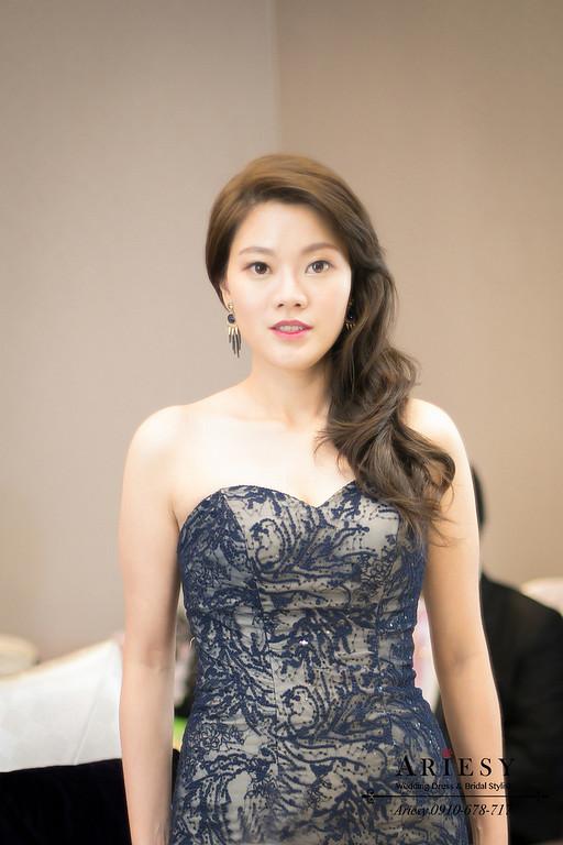 名媛髮型,魚尾禮服造型,台北新秘,新秘作品,新娘秘書